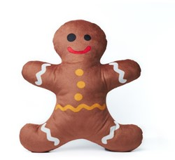 Emoji Love Pluche Kussen Emoji Love Pluche Kussen Gingerbread Man 30cm