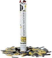 Party Popper Confetti kanon Zwart Geel 40cm