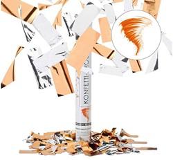 Party Popper Confetti kanon Oranje Zilver 40cm