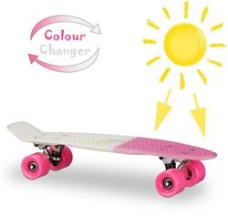 """Skateboard UV Kleurwisselend Roze 22"""" 57cm"""