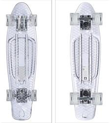 """Skateboard Transparant met Led Wieltjes  22"""" 57cm"""