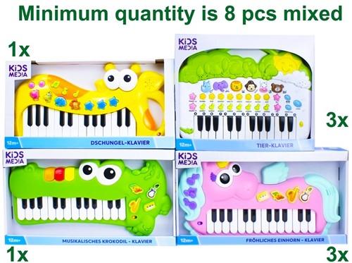 Keyboard Eenhoorn, Krokodil, Jungle 25x45cm, Dieren 30x37cm 4 assorti