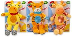 Simba ABC Pluche Baby Rammelaar 4 assorti 25cm