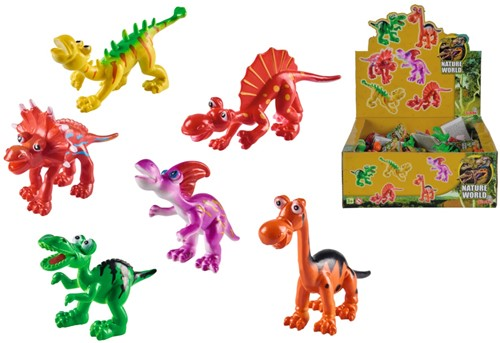 Nature World Dino figuren assorti in display (36) 7-10cm lang