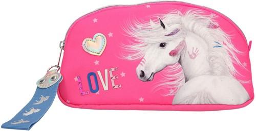 Miss Melody Make-up tas Paard Roze 19x10x4,5cm