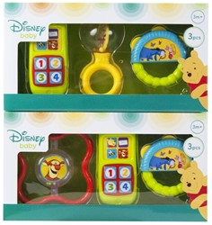 Disney Winnie de Poeh Rammelaarset 3 delig 2 assorti