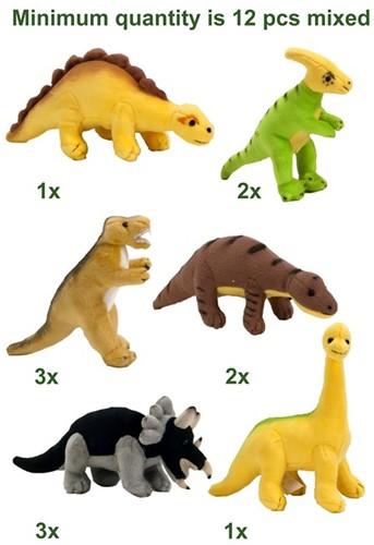 Bauer Tiere mit Herz - Pluche mini Dino's assorti 10cm
