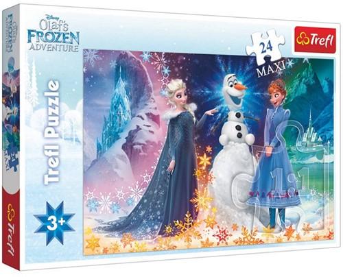 Disney Frozen Maxi Puzzel Olaf's Adventure 24delig 27x39cm