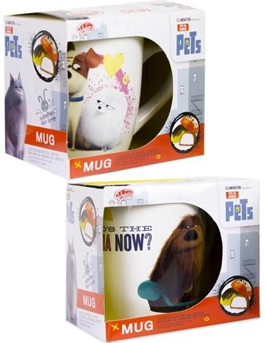 Secret Life of Pets Mok 2 assorti 10,5x12cm (Zonder Chocola)