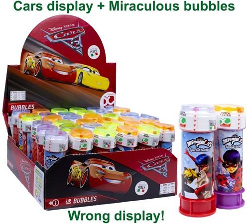 Miraculous Bellenblaas 60ml in Cars display (36)