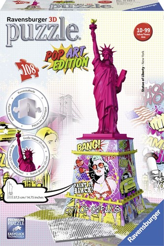 Pop Art Edition 3D puzzel Liberty Statue  (Ravensburger)