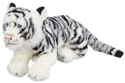 Bauer pluche liggende Siberische tijger 46cm