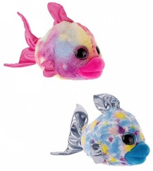 Pluche Vissen glitter ogen 2 assorti 15cm