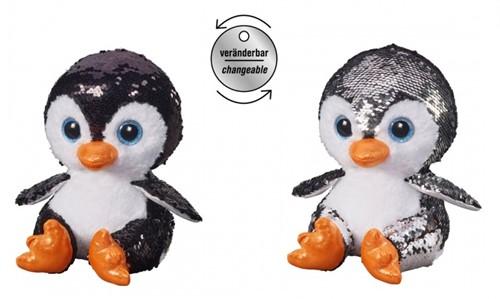 Pluche Pinguin Glitter 15cm