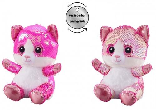 Pluche Kat Glitter 20cm