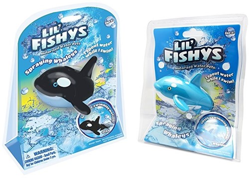 Lil' Fishys Motorized Water Pets Spraying Whales B/O 2 assorti 17x21cm