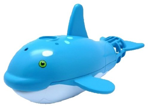 Lil' Fishys Motorized Water Pets Spraying Whales B/O 2 assorti 17x21cm-3