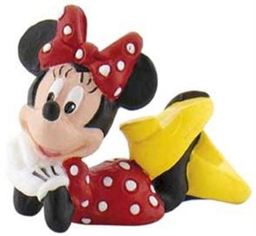 Bullyland Disney Minnie Mouse Type 3 liggend 4cm  (geen barcode)