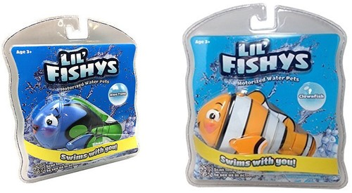 Lil' Fishys Motorized Water Pets B/O 2 assorti 16x16cm