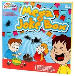 Mega Jokes Box met 10 dolkomische grappen 24x24cm