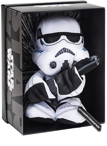 Star Wars Pluche Stormtrooper Black Line in verschillende materialen (Leer, PVC) in luxe display box 25cm