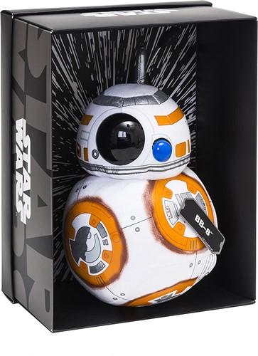 Disney Star Wars Pluche BB-8 Black Line in verschillende materialen (Leer, PVC) in luxe display box 25cm