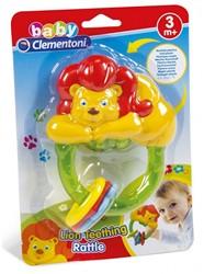 Baby bijt speeltje leeuw