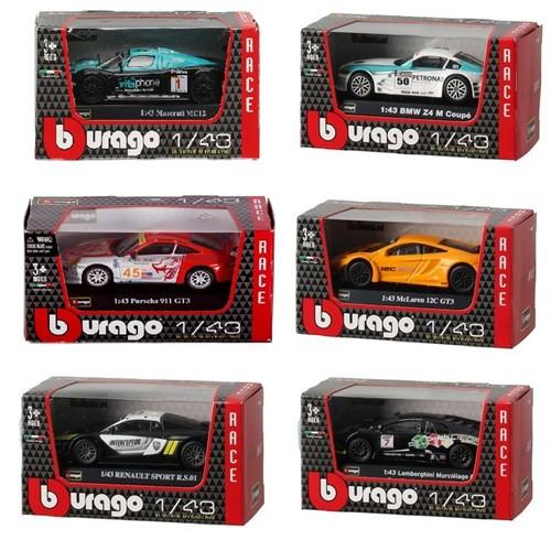 Bburago Die-Cast voertuigen 1:43 6 assorti Race