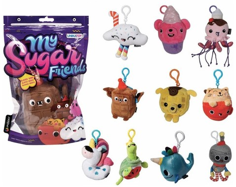 My Sugar Friends Pluche Bagclip met geur 10 assorti 10cm in display (10)