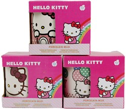 Hello Kitty Mok 3 assorti 10x11cm Mix A