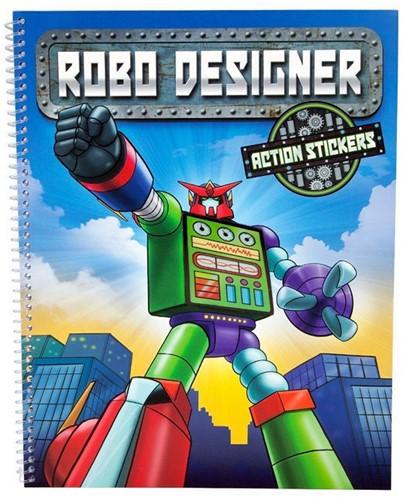 Robo Designer boek met actie stickers