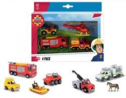 Brandweerman Sam Die-cast voertuigen 3 assorti 16x24cm
