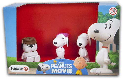 Schleich Snoopy The Peanuts Movie Scenery pack 3 delig