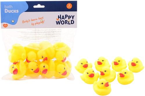 Happy World Badeendjes 8 stuks in zak