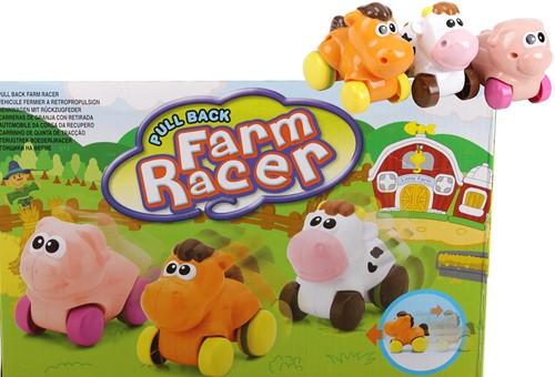 Farm Racers pull-back 3 assorti in display