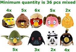 Angry Birds Starwars 9 assorti 20cm