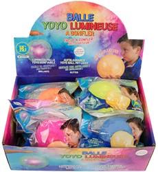 Jojo Ballon 25cm met licht 6 assorti in display