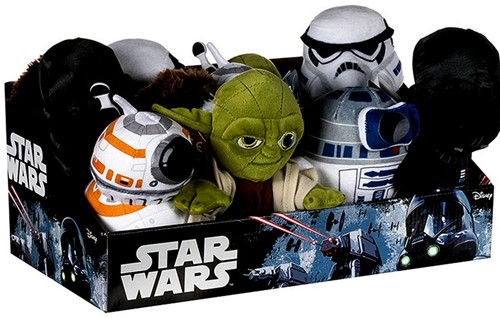 Star Wars Pluche 6 assorti in display 17cm