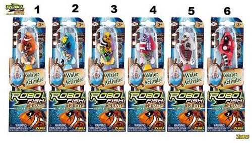 Robo Fish Pirate incl batterijen 6 assorti 20x6cm in display