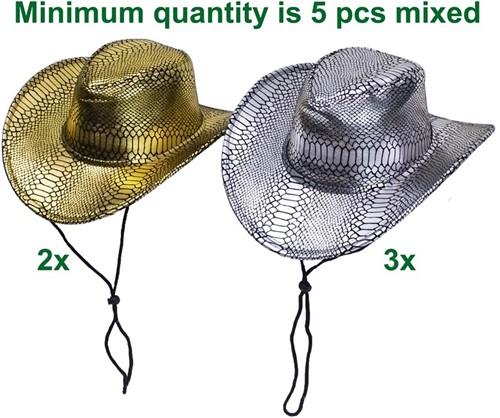 Riethmüller cowboyhoed snake stof one size assorti