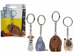 Secret Life of Pets sleutelhanger 3d 4 assorti