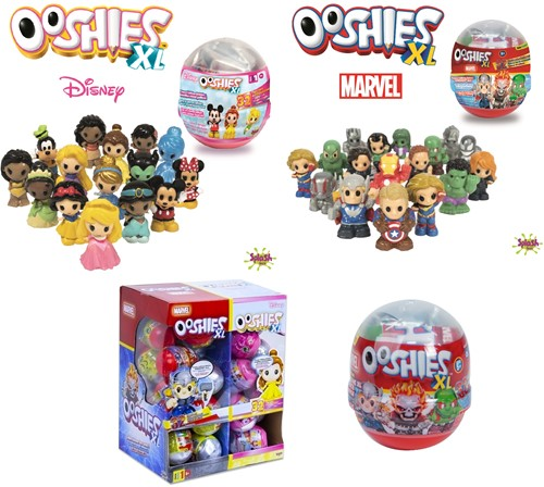 Ooshies XL verzamelfiguren in capsule 6cm Series 1 Marvel + Disney assorti in display (42)