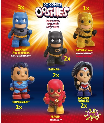 Ooshies DC Comics Collectables 6 assorti 12cm