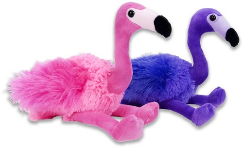 Pluche Flamingo Roze Paars 2 assorti 16cm