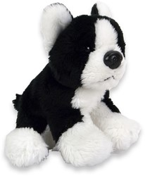 Pluche Hond Boston Terrier 10cm