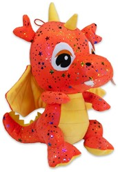 Pluche Draken Orange Star 30cm