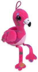 Pluche Flamingo Feather Print Roze 15cm