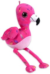 Pluche Flamingo Feather Print Roze 30cm