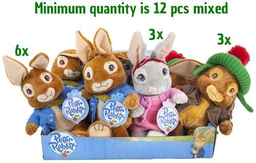 Peter Rabbit Pluche 18cm 3 assorti in display
