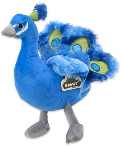 Pluche Pauw Blauw 19cm
